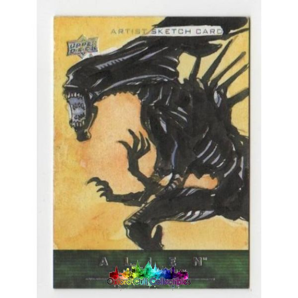 Alien Anthology Artist Sketch Card Queen By Jezreel Jez Rojales