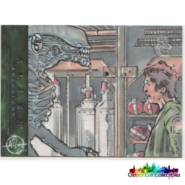 Alien Anthology Artist Sketch Proof Card By Mitch Ballard