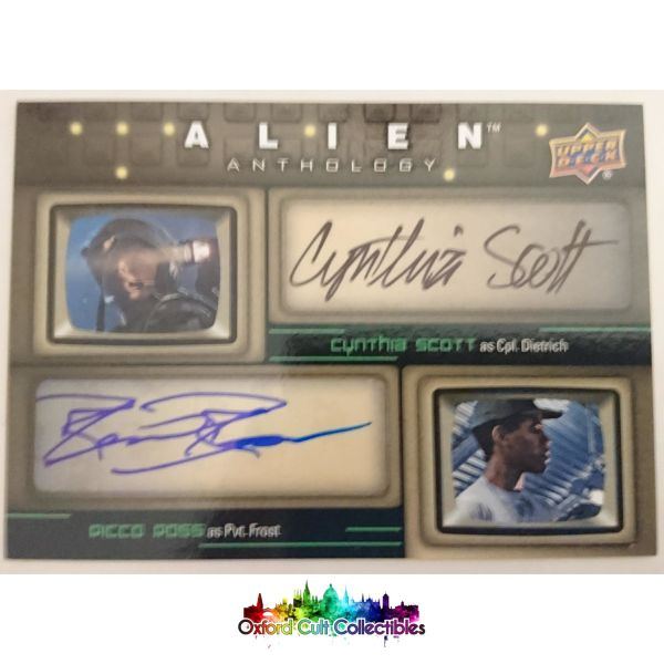 Alien Anthology Cpl. Dietrich & Pvt. Frost Authentic Dual Autograph Card