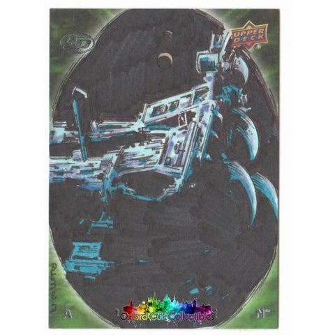 Alien Artist Proof Sketch Card By Rustico Limosinero
