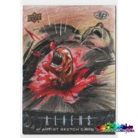 Aliens Artist Proof Sketch Card By Darwin Alcazar