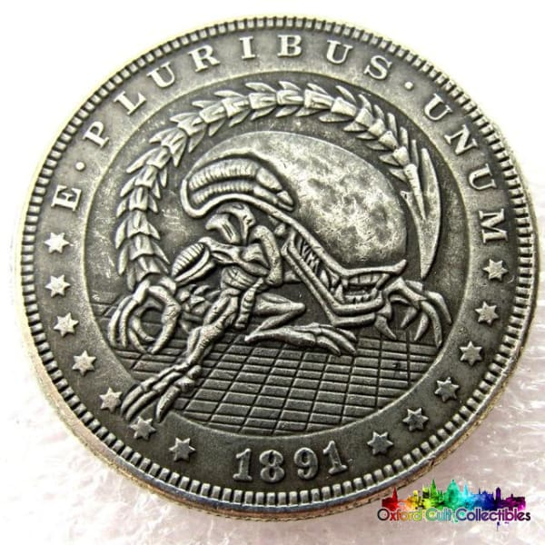 Aliens Xenomorph Vintage Style One Dollar Collectible Coin