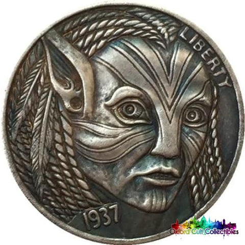 Avatar Vintage Style Five Cents Collectible Coin
