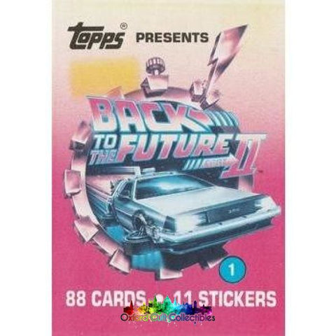 Back To The Future 2 Trading Card And Sticker Set