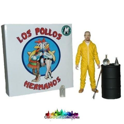 Breaking Bad Los Pollos Walter White In Hazmat Suit Cult Collectible Action Figure