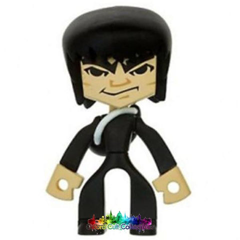 Bruce Lee In Black Suit With Backpack Temple Of Kung Fu Collectible Figurine