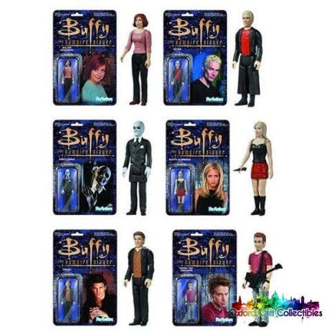 Buffy The Vampire Slayer Set Of 6 Reaction Super7 Action Figures