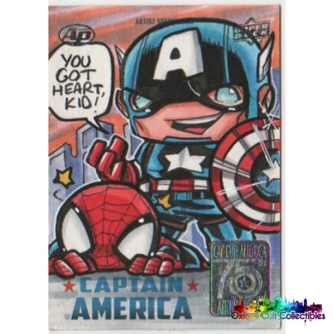 Captain America Cap & Spidey Artist Proof Sketch Card