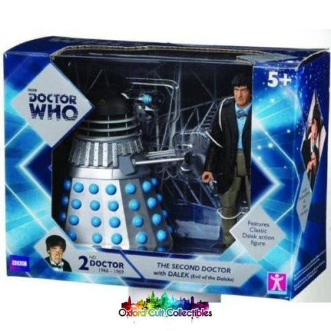 Classic Doctor Who 2Nd With Evil Of The Daleks Dalek Action Figure Set