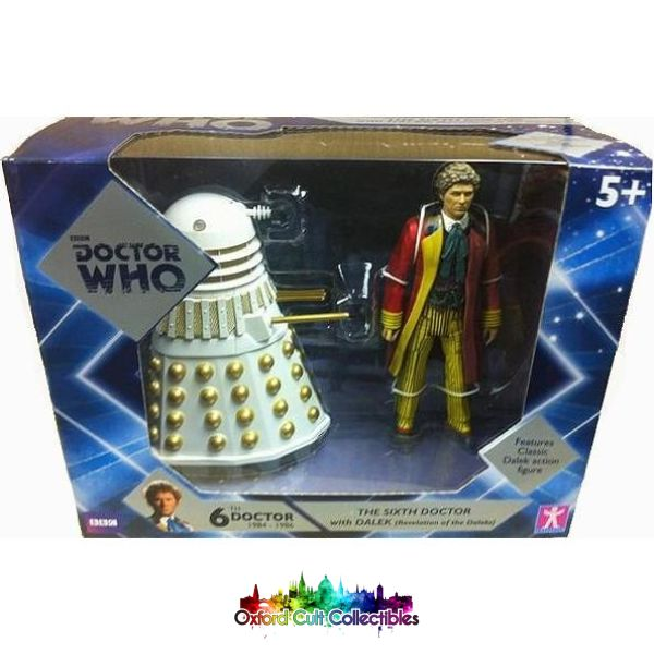 Classic Doctor Who 6Th With Revelation Of The Daleks Dalek Action Figure Set