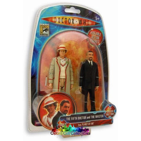 Classic Doctor Who The Fifth And The Master Exclusive Action Figure Set