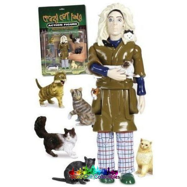 Crazy Cat Lady Action Figure Figures