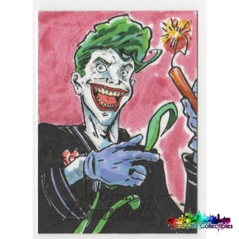 Dc Bombshells The Joker Artist Proof Sketch Card By Orlando