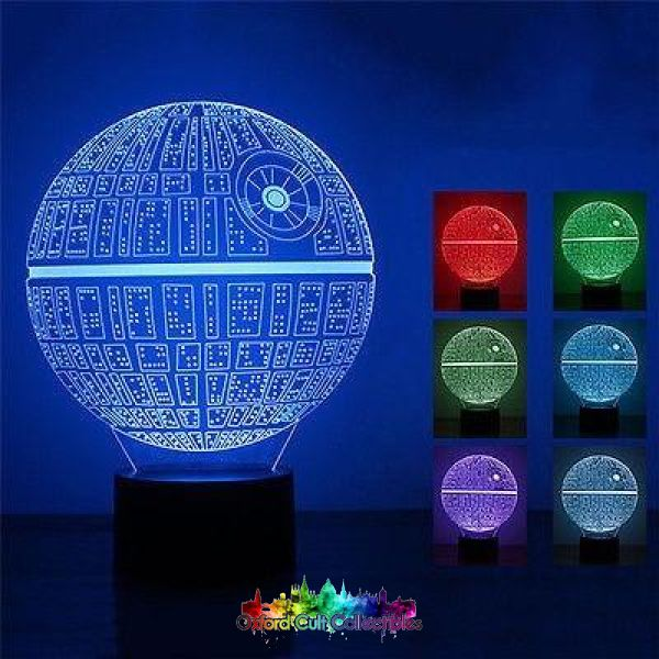 Death Star Colour Changing Led Lamp