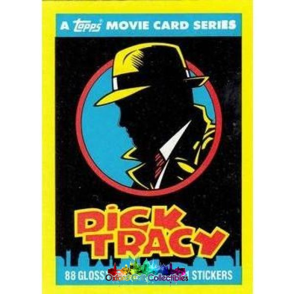 Dick Tracy Trading Card And Sticker Set
