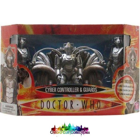 Doctor Who Cyber Controller With Cyberthrone And Guards Action Figure Set