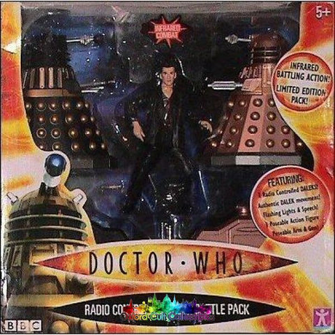 Doctor Who Radio Controlled Dalek Battle Pack Action Figure Set