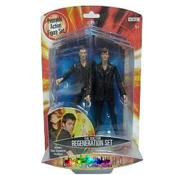 Doctor Who The Ninth And Tenth Doctors Regeneration Action Figure Set