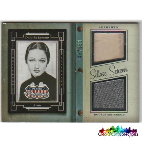 Dorothy Lamour Dual Costume Card