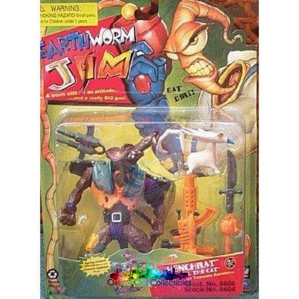 Earthworm Jim Henchrat And Evil The Cat Action Figure