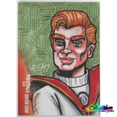 Fireball Xl5 Artist Sketch Card