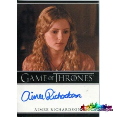 Game Of Thrones Aimee Richardson As Myrcella Baratheon Autograph Card
