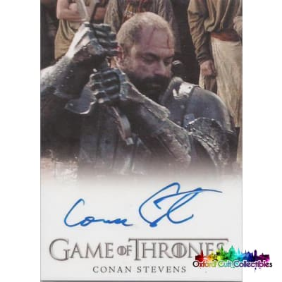 Game Of Thrones Conan Stevens As Gregor Clegane Autograph Card