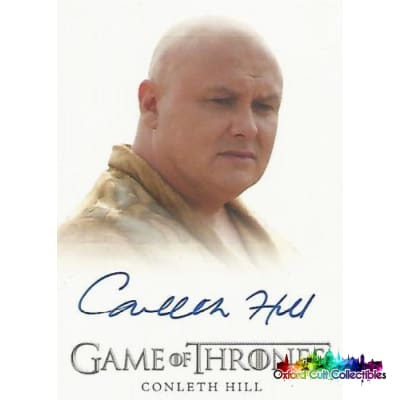 Game Of Thrones Conleth Hill As Lord Varys Autograph Card