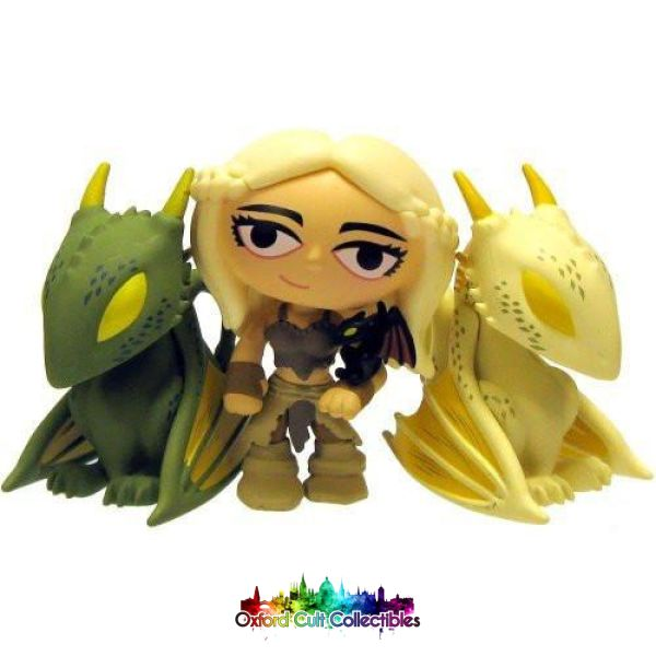 Game Of Thrones Daenerys Khaleesi Stormborn With Baby Drogon Rhaegal And Viserion Cult Vinyl Figure Mystery Mini