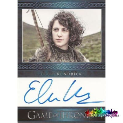 Game Of Thrones Ellie Kendrick As Meera Reed Autograph Card