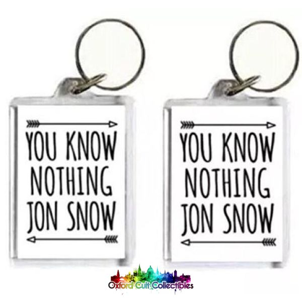 Game Of Thrones Keyring Set Sorry Ladies Im In The Nights Watch And You Know Nothing Jon Snow Mystery Mini