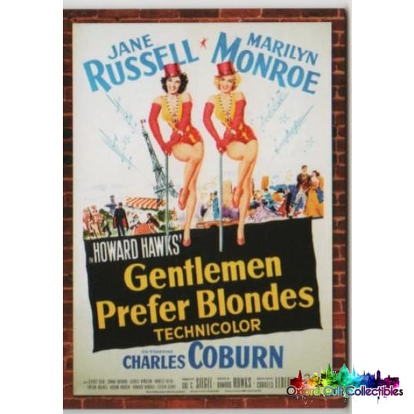 Gentlemen Prefer Blondes Marilyn Monroe And Jane Russell Movie Poster Dual Costume Card