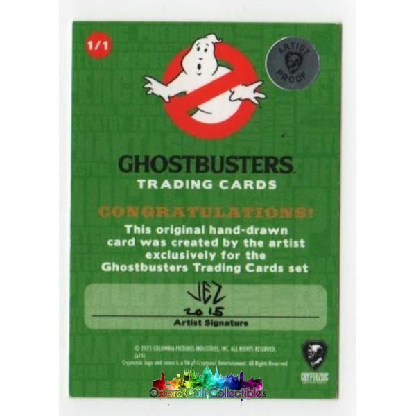 Ghostbusters Artist Proof Sketch Card