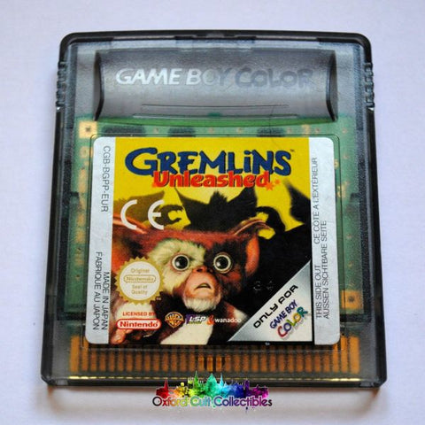 Gremlins Unleashed Gameboy Color Game