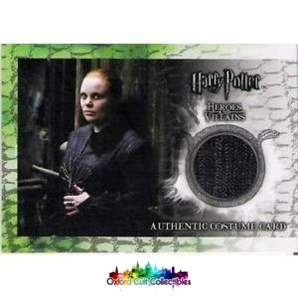 Harry Potter Alecto Carrow Authentic Costume Card