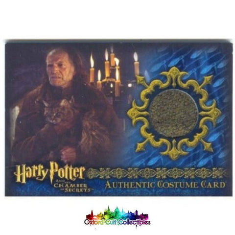 Harry Potter Argus Filch Authentic Costume Card