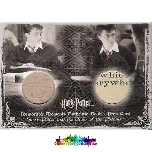 Harry Potter Dark Arts Books Authentic Dual Prop Card