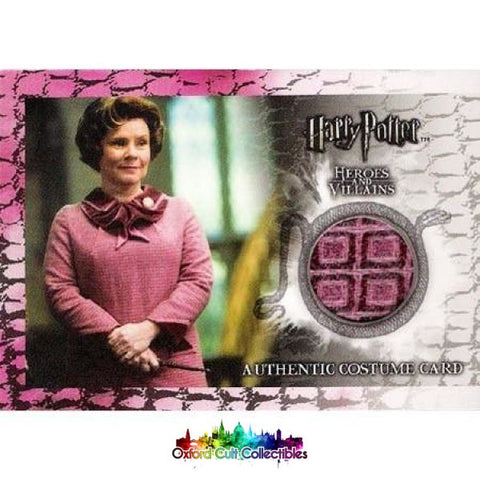 Harry Potter Dolores Umbridge Authentic Costume Card