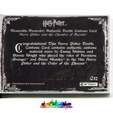Harry Potter Hermione Granger And Ginny Weasley Authentic Dual Costume Card