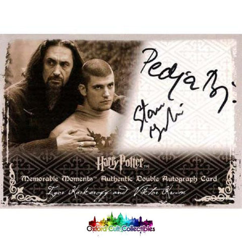 Harry Potter Igor Karkaroff And Viktor Krum Authentic Dual Autograph Card