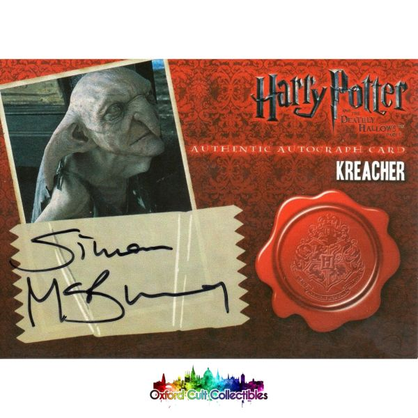 Harry Potter Kreacher Authentic Autograph Card