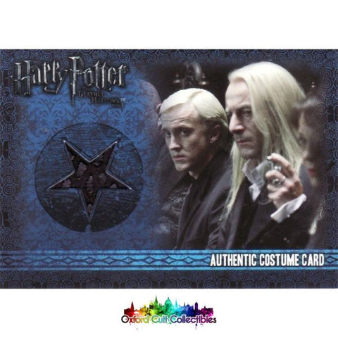 Harry Potter Lucius Malfoy Authentic Costume Card