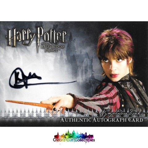 Harry Potter Nymphadora Tonks Authentic Autograph Card