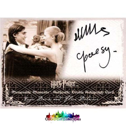 Harry Potter Roger Davies And Fleur Delacour Authentic Dual Autograph Card