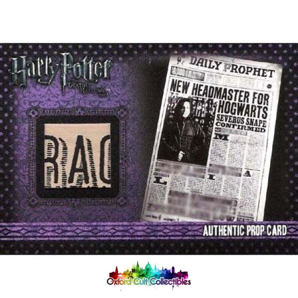 Harry Potter The Daily Prophet Authentic Prop Card