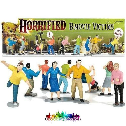 Horrified B-Movie Victims Action Figurine Collection