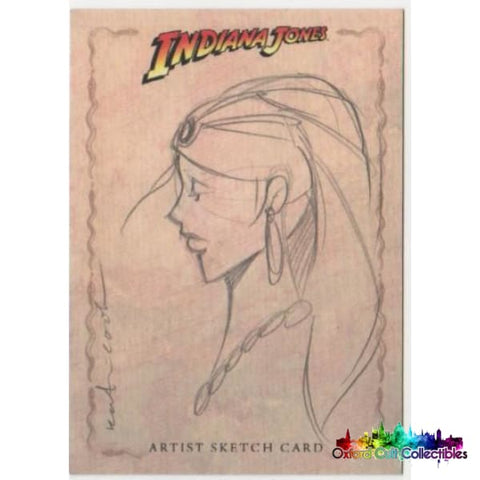 Indiana Jones Heritage Artist Sketch Card By Katie Cook