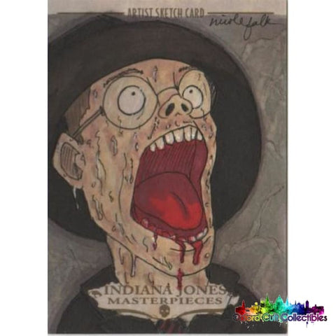 Indiana Jones Masterpieces Artist Sketch Card By Nicole Falk