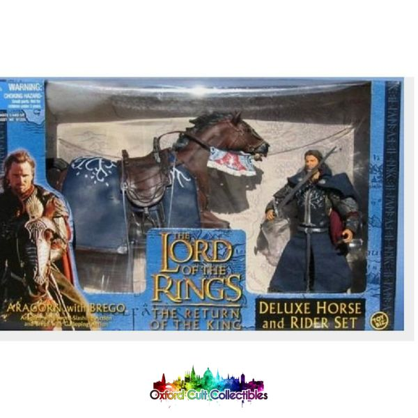 Lord Of The Rings Aragorn With Brego Deluxe Action Figure Set