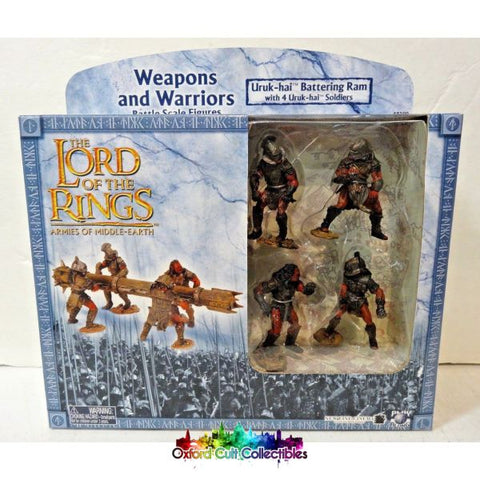 Lord Of The Rings Armies Middle-Earth Uruk Hai Battering-Ram With 4 Uruk-Hai Soldiers